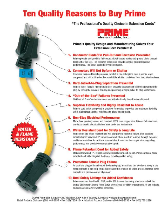 Prime Wire and Cable - DiStefano Sales Company